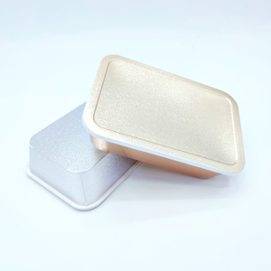 Gold and silver laser lunch box