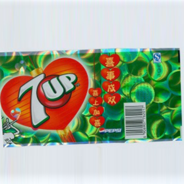 7-Up soft drink label